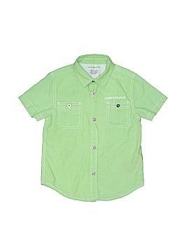 CALVIN KLEIN JEANS Short Sleeve Button-Down Shirt Size 4T