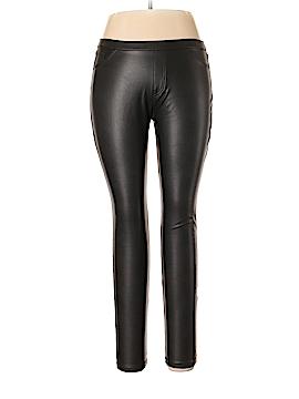 Hue Faux Leather Pants Size L