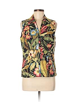 Ultra Dress Sleeveless Button-Down Shirt Size 10