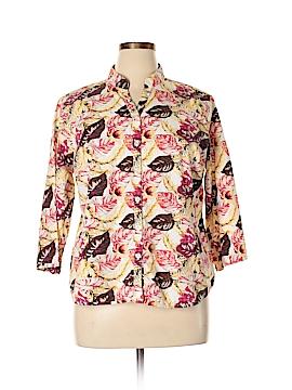 Breckenridge 3/4 Sleeve Button-Down Shirt Size XL