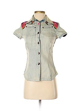 Oilily Short Sleeve Button-Down Shirt Size 32 (EU)