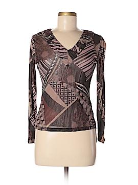 Lynn Ritchie Long Sleeve Silk Top Size M