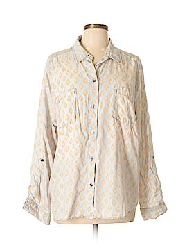 Signature Studio Long Sleeve Button-Down Shirt Size XL