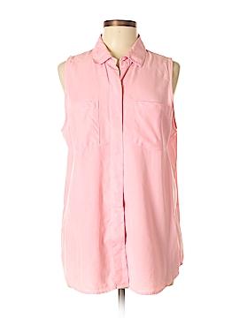 Signature Studio Sleeveless Button-Down Shirt Size L