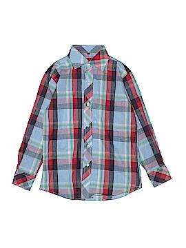 Elie Balleh Long Sleeve Button-Down Shirt Size 8