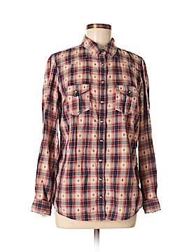 Indigo Collection Long Sleeve Button-Down Shirt Size 40 (EU)