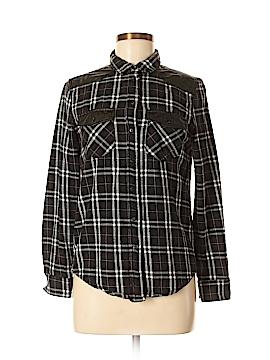 Denim Co Long Sleeve Button-Down Shirt Size 6