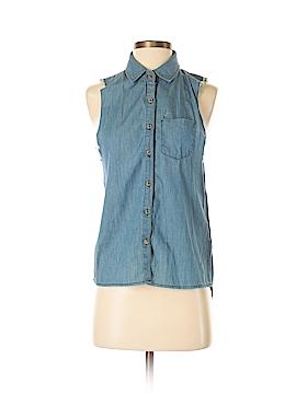 Vintage Havana Sleeveless Button-Down Shirt Size S