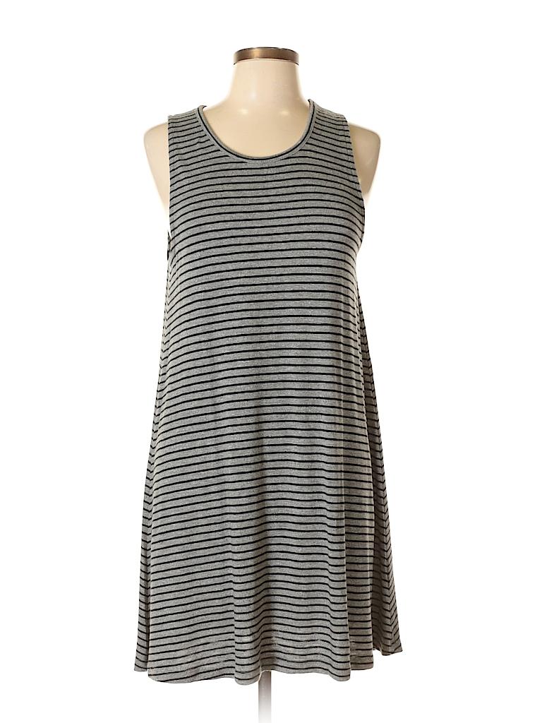 Madewell Stripes Gray Cocktail Dress Size L - 78% off | thredUP