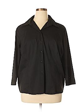 Hillard & Hanson 3/4 Sleeve Button-Down Shirt Size 2X (Plus)