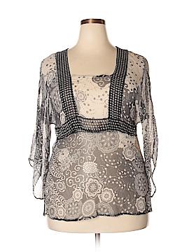 Carole Little 3/4 Sleeve Silk Top Size 1X (Plus)