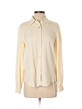 Casual Corner Long Sleeve Silk Top Size 8