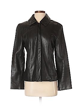 Jones New York Leather Jacket Size S