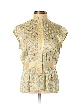 Robert Graham Short Sleeve Silk Top Size 2