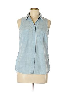Faded Glory Sleeveless Button-Down Shirt Size S