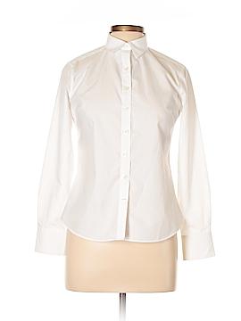 Lands' End Long Sleeve Button-Down Shirt Size 4 (Petite)