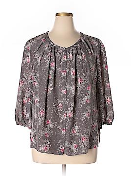 Boden 3/4 Sleeve Silk Top Size 16