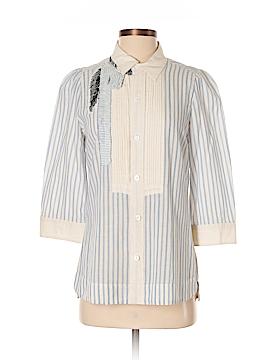Floreat Long Sleeve Button-Down Shirt Size 12