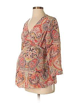 Mimi Maternity 3/4 Sleeve Silk Top Size M (Maternity)