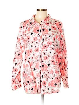 DG^2 by Diane Gilman Long Sleeve Button-Down Shirt Size L