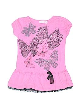 Pink Zebra Short Sleeve Top Size 6