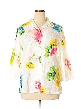 Koret 3/4 Sleeve Button-Down Shirt Size L