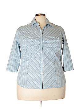 Fashion Bug 3/4 Sleeve Button-Down Shirt Size 18/20 (Plus)
