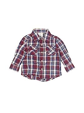 WonderKids Long Sleeve Button-Down Shirt Size 12 mo