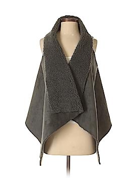 Elan Faux Fur Vest Size O/S
