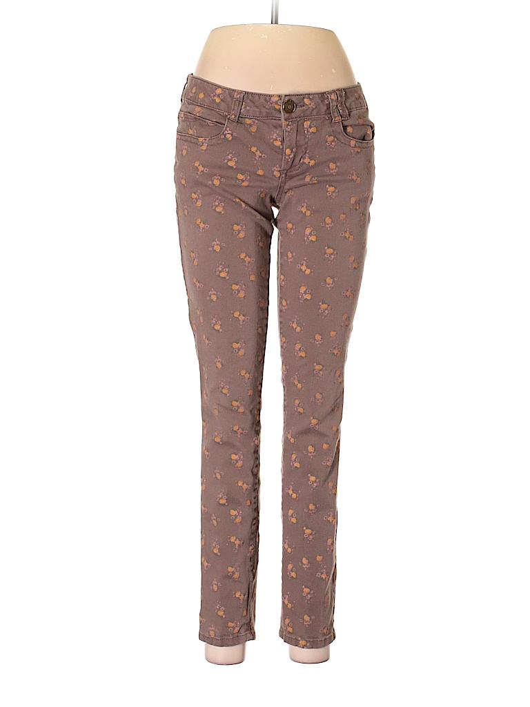 21abe1d13c9 Jolt Print Brown Jeans Size 9 - 69% off