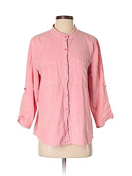 Focus 3/4 Sleeve Button-Down Shirt Size S