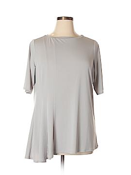 Simonton Says Short Sleeve Top Size 1X (Plus)