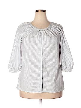 Gap Outlet 3/4 Sleeve Button-Down Shirt Size XL