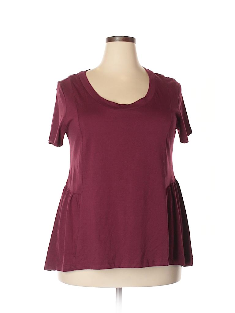 American Rag Cie Women Short Sleeve Top Size 0X (Plus)