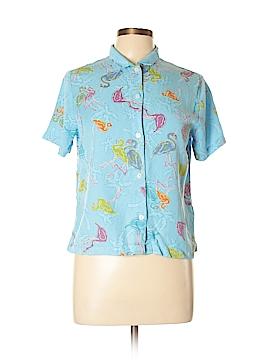 Fresh Produce Short Sleeve Button-Down Shirt Size M
