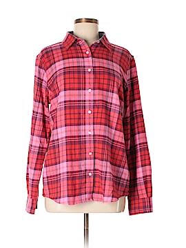 Lands' End Long Sleeve Button-Down Shirt Size M