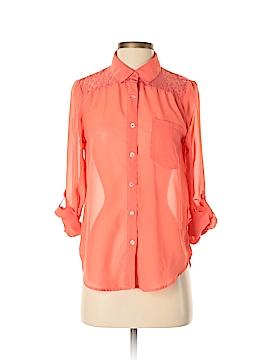 Kirra Long Sleeve Button-Down Shirt Size S