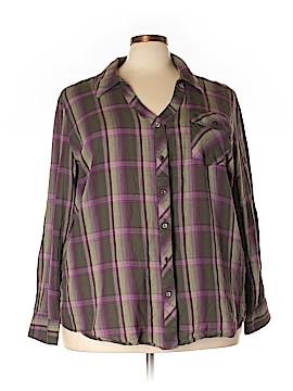 Fashion Bug Long Sleeve Button-Down Shirt Size 3X (Plus)