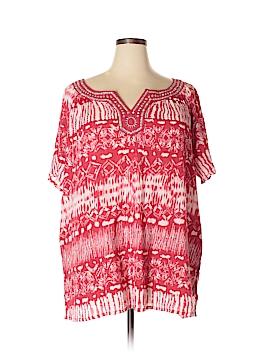 Tantrums Short Sleeve Blouse Size 2X (Plus)