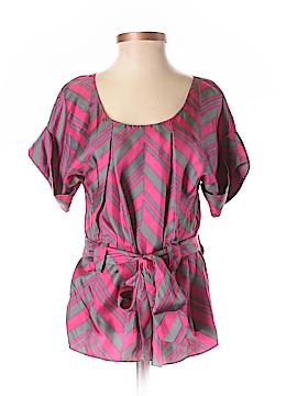 Madison Marcus Short Sleeve Silk Top Size XS