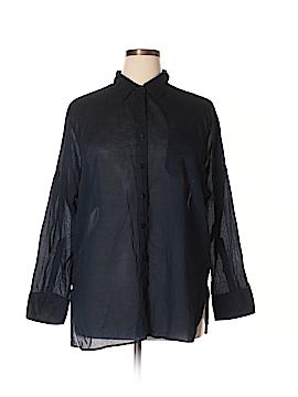 Ellen Tracy Long Sleeve Button-Down Shirt Size XL