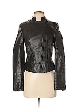 Black Rivet Faux Leather Jacket Size XS