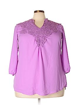 Lucky 3/4 Sleeve Blouse Size 5X (Plus)