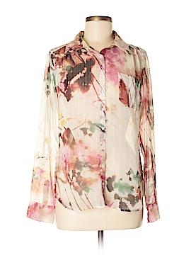 Guess Long Sleeve Button-Down Shirt Size M