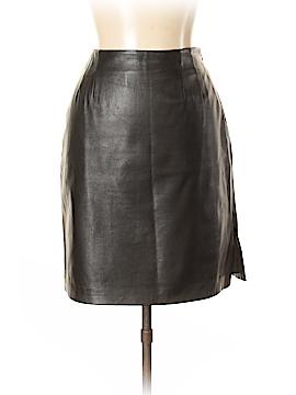 Linda Allard Ellen Tracy Leather Skirt Size 10