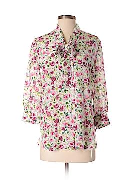 Dolce & Gabbana 3/4 Sleeve Silk Top Size 34