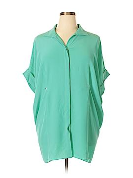 Lafayette 148 New York Short Sleeve Blouse Size L (Plus)