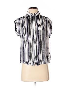 Three Dots Short Sleeve Button-Down Shirt Size S