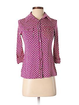 Charter Club 3/4 Sleeve Button-Down Shirt Size S (Petite)