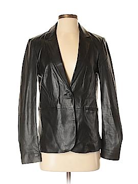 Ecru Leather Jacket Size 4